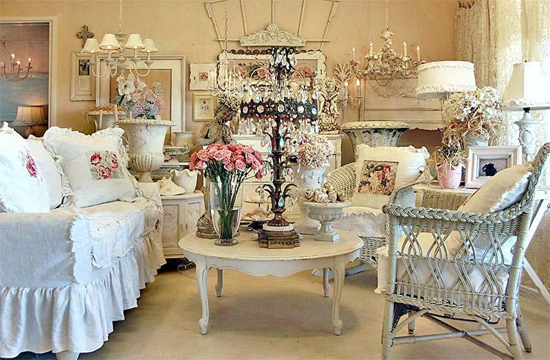 shabby-chic-interior-design-ideas-with-floral-ornaments