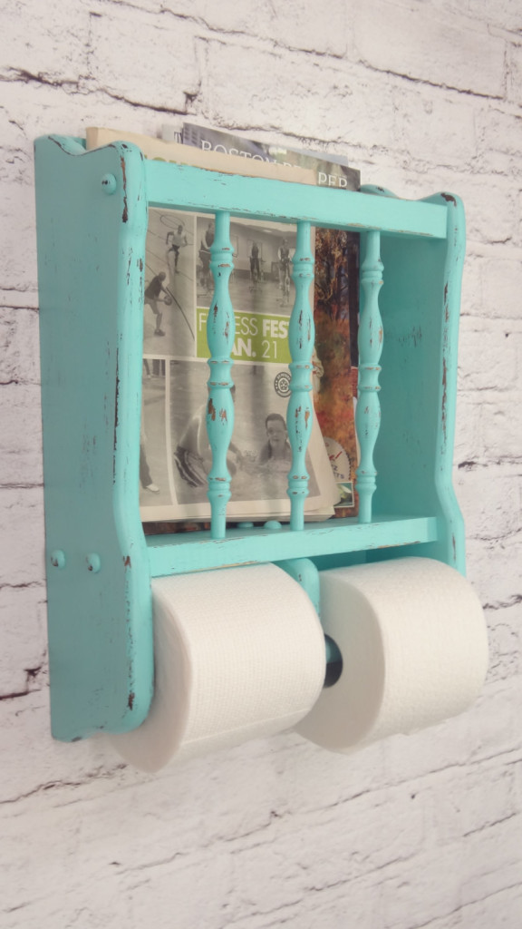 shabby-chic-turquoise-paper-holder