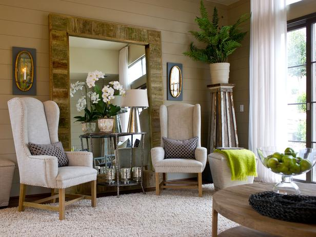 Living Room of the HGTV Green Home 2012 located in Serenbe, GA