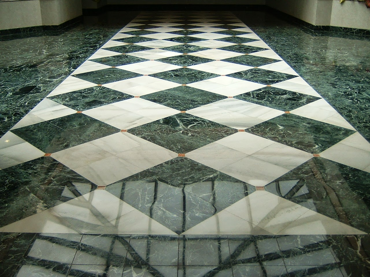 Marble floor trendy glossy black and white ceramic marble