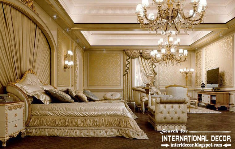 Luxurious bedroom interior design and furniture in classic for Classic design style