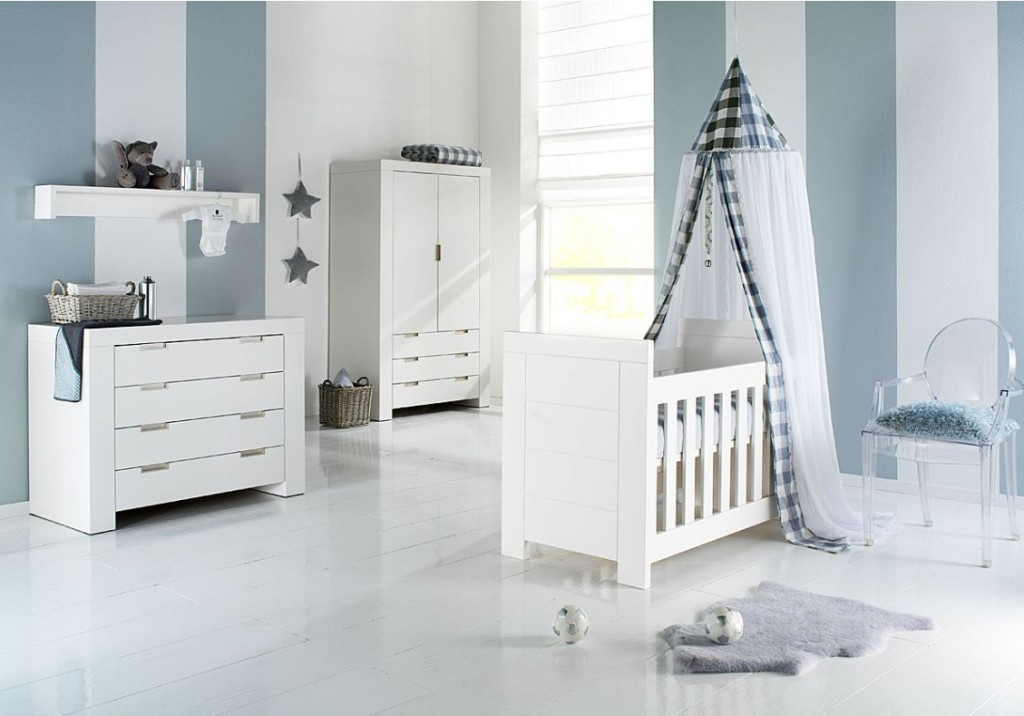 captivating-bright-baby-room-interior-design-with-blue-white-stripes-wallpaper-and-white-wooden-crib-baby-furniture