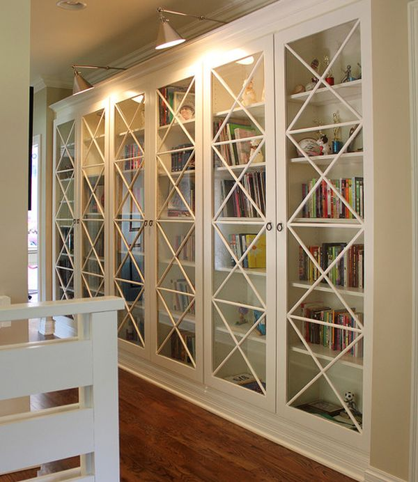 X-motif-custom-designed-glass-doors-give-these-bookcases-an-inimitable-look