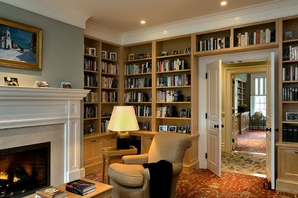 living-room-fireplace-and-books-around-door