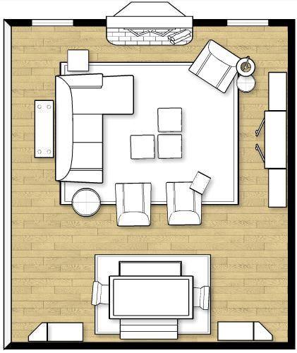 صورة توضح كيفية وضع جلسة صالة المعيشة مع طاولة الطعام.